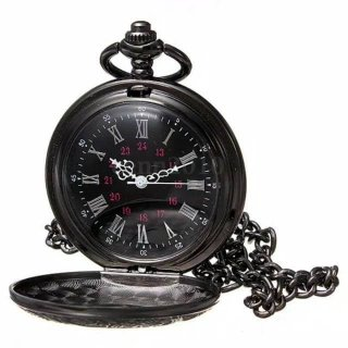 Jam Tangan Unik Keren Vintage Romawi Kalung