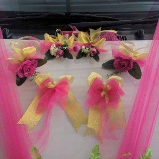 1 Set Hiasan Pintu & Spion Dekorasi Mobil Pengantin / Wedding Car Decoration