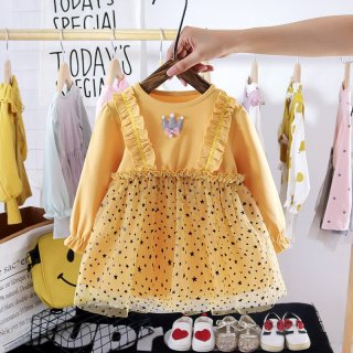 Dress Anak Perempuan Crownie Star Gaun Rok Tutu