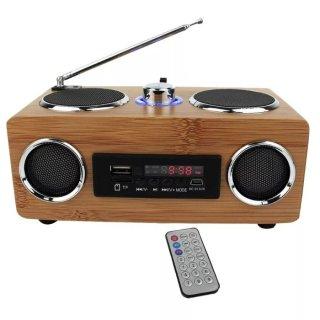 Radio Bamboo Portable Speaker Vintage