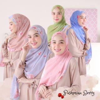 Hijabwanitacantik - Pashmina Berry Series | Hijab Pashmina Printing