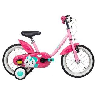 BTWIN 500 Unicorn Sepeda Anak 14 inch untuk Usia Anak 3-5 Tahun - Pink