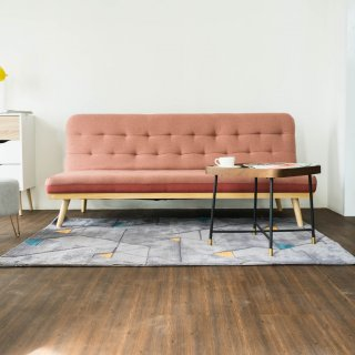 iCreate Eros Sofa Bed Pink & Red