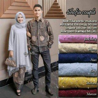 Baju Batik Couple Shofia Batik Sarimbit Tille