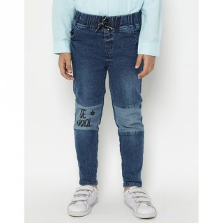 Little M Long Pant Denim Stretch Cut N Sewn