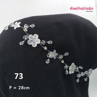 Headpiece Hijab Acrylic Hiasan Rambut Sanggul Lentur Hijab