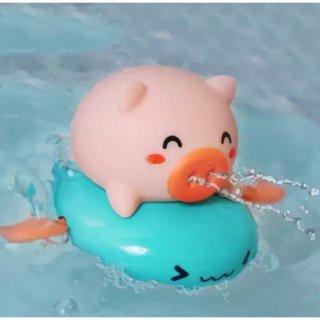 Mainan Mandi Bayi Pig Berenang, Pig Babi Lucu Semprot Air