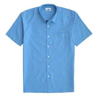 Crocodile Line Olympic Blue - Men Shirt Kemeja Lengan Pendek