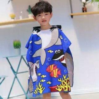Baju Handuk Ponco Renang Anak