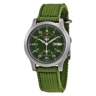 Seiko 5 SNK805K2 Automatic 21 Jewels Green Military Nylon Strap