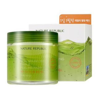 Nature Republic Jeju Sparkling Triple Peeling Pads 70 pads