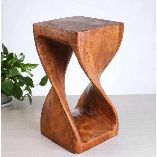 Bangku Ruang Tamu dan Meja Sudut Bangku Kayu Solid Kerajinan Kayu Tiga Dimensi Multifungsi
