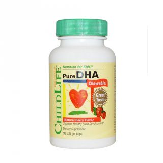 ChildLife Pure DHA Chewable Fish Oil Strawberry