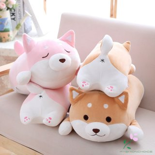 Bantal Boneka Plush Kartun Anjing Shiba Inu