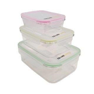 Trans Living Food Container Set of 3 Pcs - Kotak Makan