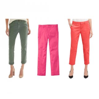 GAP Celana Chinos Wanita Slim City Crop