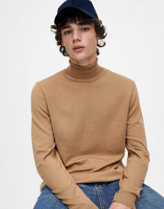 Viscose High Neck Knit Sweater