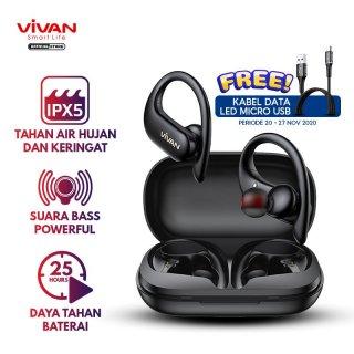 VIVAN Earphones Headset TWS Bluetooth 5.0 Waterproof IPX5