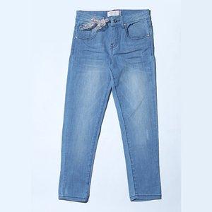 Osella Celana Anak Perempuan Jeans Polos Blue