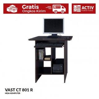 Activ Meja Komputer Kerja Modern / Meja Laptop Gaming Minimalis / VAST CT 801 R - Wenge