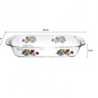 Luminaric Piring Penyaji Anemone Serveware Rect Set / 2 pcs