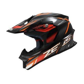 Helm Motocross Zeus ZS-912 Black AF3 Dark Gray