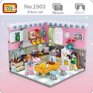 24. Anak Belajar Membangun Lego Miniatur Dapur