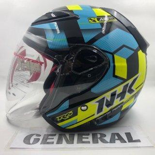 Helm NHK Motif Cube Black Yellow Light Blue