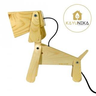 Woof Lamp - Lampu Belajar & Tidur kayu