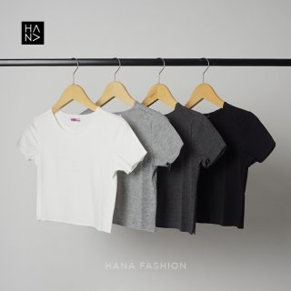 HanaFashion JKT - Hanafe Crop Top Kaos Wanita Crop Tee
