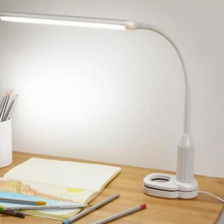 Lampu Meja LED Belajar Arsitek Sentuh 2 in 1 Klip Dimmable