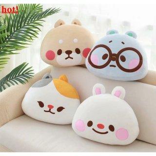 Lucu Beruang Lucu Kelinci Shiba Inu Bantal Kepala Boneka Korea Bantal Sofa