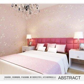 Wallpaper 3D Warm Romantic Pink
