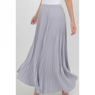 Chic Simple Pleated Maxi Skirt