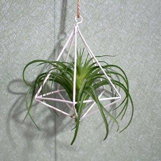 Rak Wadah Tanaman / Bunga dengan Model Gantung dan Bahan Logam Bergaya Rustic
