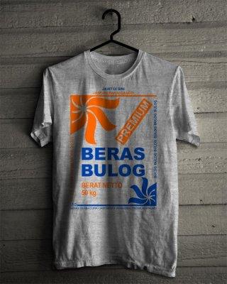 Kaos Lucu Gambar Karung Beras Bulog Premium Tshirt KaosanWae