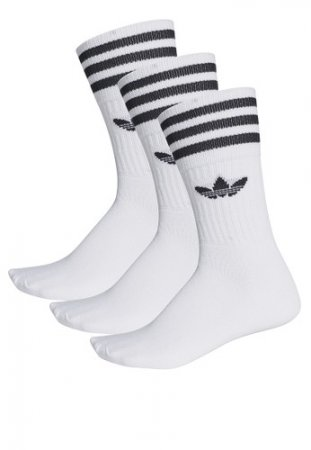 Adidas Originals Solid Crew Sock 3 Pack