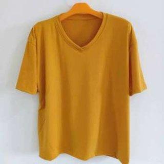 V Pendek - T-shirt Polos XXL-XL-L Wanita