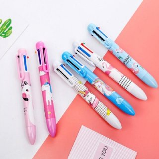Kawaii Unicorn Multi-color 6 Colors Ballpoint Pen