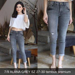 Celana Jeans Wanita 7/9 Alana Grey