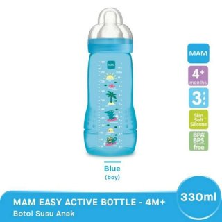Botol Susu Bayi MAM Easy Active 4m+ 330 ml - Boy