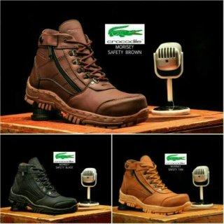 Sepatu Pria Boots Crocodile Morisey Safety Resleting Original Handmade