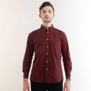 Dover Maroon Shirt LS - Kemeja Pria Lengan Panjang Guteninc