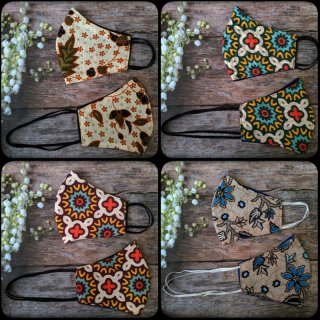 Satu set Masker Batik Couple Earloop Headloop