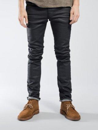 Nudie Jeans Thin Finn Back 2 Black (Black Coated)
