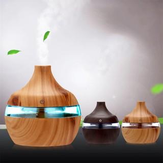 Electric Humidifier Aroma Oil Diffuser Ultrasonic Wood Grain Air Humidifier USB Mini Mist Maker