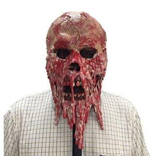 Topeng Seram Hantu Zombie Tengkorak Daging Meleleh