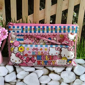 Stationery Set Hello Kitty Kantong Souvenir Kado Alat Tulis Goodie Bag