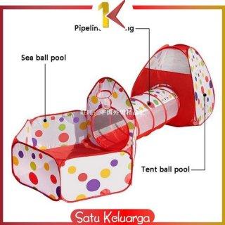 ONE-M6 Mainan Tenda Anak Terowongan 4 in 1