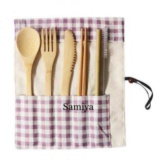 Set Peralatan Makan dari Bambu
